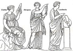 the Three Fates ... Clotho, Atropos, and Lachesis