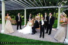 The ring bearer didn't like the kiss.  Cantigny Park Wedding Photos – Inga & Jeff's Wedding!