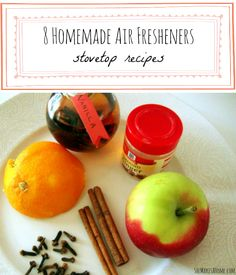 8 Easy, Homemade Air Fresheners for the stovetop #DIY