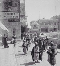 Al-Quds (Jerusalem) turn of the century (Notice Deutsche Palestina Bank)