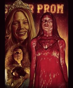 "Horror Movie Poster Art : ""Carrie"" by Peter Panayis Horror Movie Posters, Movie Poster Art, Horror Films, Carrie Stephen King, Stephen King Movies, Sissy Spacek, Carrie Halloween Costume, Halloween Movies, Halloween Makeup"