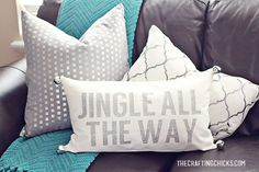 Here's How I made this lovely DIY Jingle All the Way Christmas Pillow