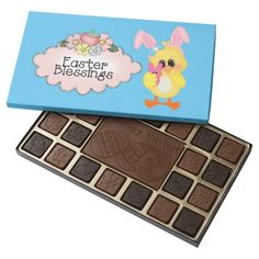Easter Chick Holiday box of chocolate 45 Piece Assorted Chocolate Box