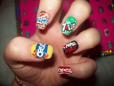 Fizzy drinks nails