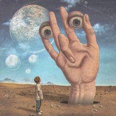 "Artist: Title: ""Hope And Innocence"" Medium: Digital Collage Date: 2018 Size: N/A Creepy Art, Weird Art, Psychedelic Art, Arte Pink Floyd, Ps Wallpaper, Arte Peculiar, Hippie Art, Retro Futurism, Sci Fi Art"