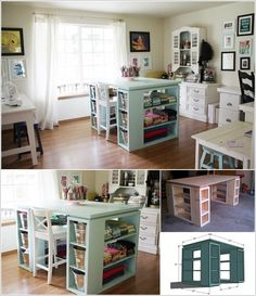 10 cool diy craft table ideas for your craft room 5 dm a bydlen pracovna pinterest crafts cool diy and craft tables