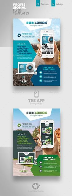 Buy Mobile App Flyer Templates by grafilker on GraphicRiver. Mobile App Flyer Templates Fully layered INDD Fully layered PSD 300 Dpi, CMYK IDML format open Indesign or later . Business Flyer Templates, Brochure Template, Business Flyers, Newspaper Design Layout, Corporate Flyer, Corporate Design, Business Design, Taxi App, Social Media