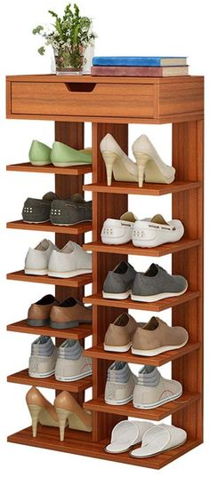 Home TZAMLI wooden shoe rack vertical design entrance area shoes storage rack modern 6 Ti # storage Shoe Box Storage, Shoe Rack Organization, Entryway Shoe Storage, Shoe Organizer, Wooden Shoe Storage, 6 Tier Shoe Rack, Wood Shoe Rack, Diy Shoe Rack, Shoe Racks