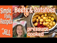 Beets and Potatoes Pressure Cooked Together