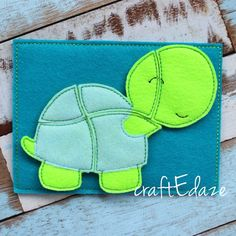 Turtle On-the-Go Felt Puzzle with Storage Pouch