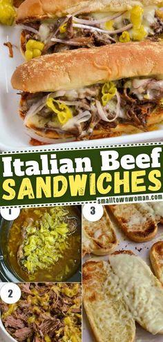 Hot Beef Sandwiches, Hot Sandwich Recipes, Italian Beef Sandwiches, Soup And Sandwich, Sandwich Ideas, Sandwiches For Dinner, Baked Sandwiches, Italian Roast Beef, Italian Beef Recipes