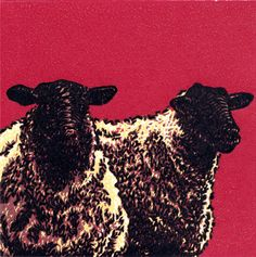 One Flock - Reduction Linoleum Block Print by Tyrus Clutter - 2012