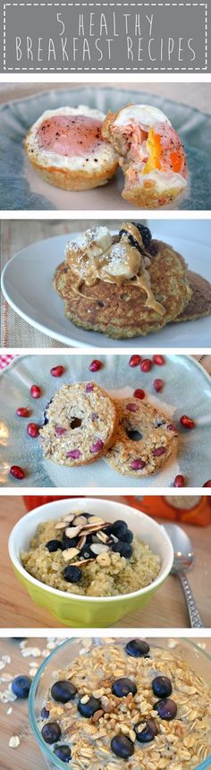 The Quinoa breakfast cereal with blueberries has the wrong link so google it. It was great!  5 healthy breakfast recipes