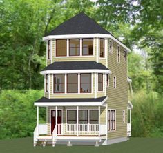 16x30 House -- #16X30H18C -- 1,489 sq ft - Excellent Floor Plans