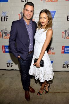 The Best Dressed A-Listers at last night's Stand Up To Cancer event: Cash Warren and Jessica Alba