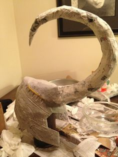 Yes, it's going to happen. I resisted it as long as I could, but looks like a god of mischief is in my future.  Loki's Helmet - Paper Mache