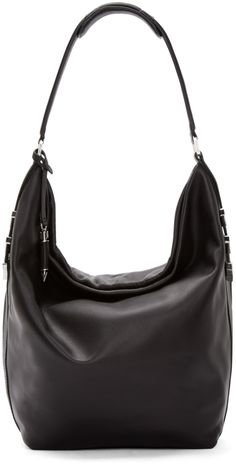 37c58038dc73 Declan Leather Hobo Bag With Chevron Detail In Slate