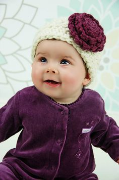 Crochet Baby Hat Baby Hat with Flower Baby by SimplyMadeByErin, $25.00