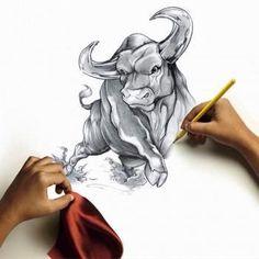 taurus bull tattoo drawings Car Tuning - Everything About JDM Cars Body Art Tattoos, Tattoo Drawings, Sleeve Tattoos, Toros Tattoo, Ox Tattoo, Buffalo Tattoo, Taurus Bull Tattoos, Bull Painting, Pencil Drawings Of Animals