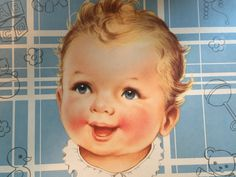 Vintage Gift Wrapping Paper  Baby Shower by TheGOOSEandTheHOUND