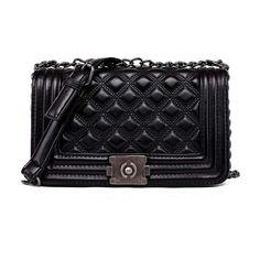 Vintage Diamond Lattice Handbag