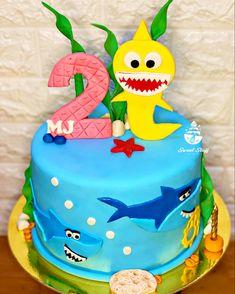 "Under the sea ""Shark"" Inspired 🦈 Sea Shark, Baby Shark, Cakes For Boys, Under The Sea, Fondant, Birthday Cake, Desserts, Inspiration, Food"