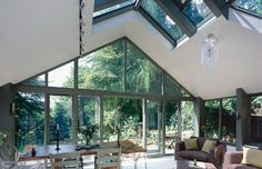 the perfect entertaining orangery House Extensions, Cabins In The Woods, Lounges, Conservatory, Sunroom, Container, Windows, Entertaining, Interiors