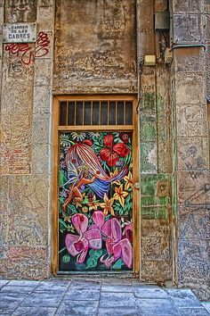 """Barcelona, Spain"" by is2_zed on Flickr - This is  an entry door in Barcelona, Spain."