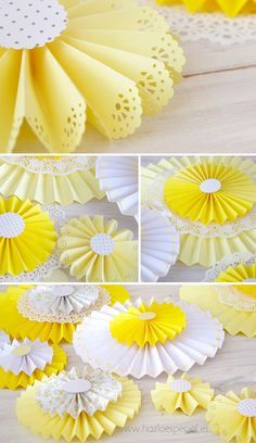 19 New Ideas for baby shower decorations wall you are Paper Flowers Diy, Flower Crafts, Diy Paper, Paper Crafts, Paper Fan Decorations, Diy Party Decorations, Baby Shower Decorations, Doilies Crafts, Paper Doilies