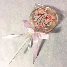 3 Natural Rose Flavored Bespoke Hand Painted Roses Lollipops