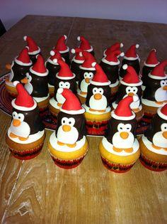Cup cakes kerstdiner op school