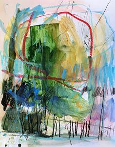 "Mixed media on paper. 11x14 ""Tree House"""
