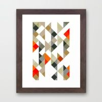 triangle pattern 05 Framed Art Print