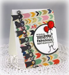 created by Julee Tilman using Better Together, Chevron Love and the Award Banner Trim Die from Verve.  #vervestamps