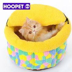Deep Hollow Puppy Pet Bed for Small Dog Cat Candy Color Dog Cat Kennel House Pet Supplies 1 Piece Dropshipping