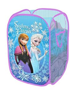 The Disney Frozen Sisters Forever Pop Up Hamper makes a perfect addition to your child's bedroom, closet, or playroom. The pop up hamper is an easy way to maintain organization while adding a… Frozen Disney, Disney Frozen Bedroom, Princesa Disney Frozen, Frozen Room, Frozen Elsa And Anna, Frozen Princess, Princess Anna, Elsa Anna, Handmade Furniture