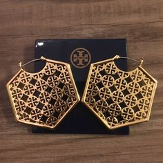 Tory Burch Hoop Earrings in Gold Brand new with dustbag. No trades Tory Burch Jewelry Earrings