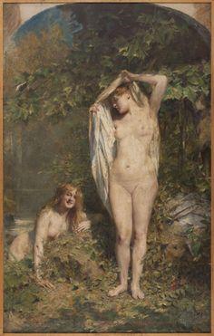 Au soleil , Vers 1910, Comerre, Léon-François (Trélon, 10–10–1850 - Le Vésinet, 20–02–1916), peintre   Paris Musées
