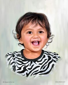 Baby Girl Portrait Painting