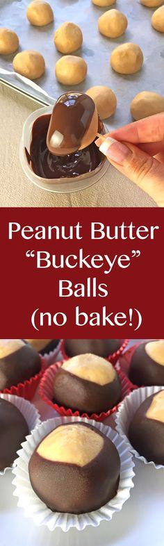 Peanut Butter Buckeye Balls (no bake!)