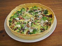 Quiché de brócoli, setas y queso de cabra // Broccoli, mushrooms and goat cheese pie