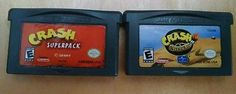 Gameboy Advance Crash Superpack & Crash Nitro Kart  CARTRIDGE ONLY