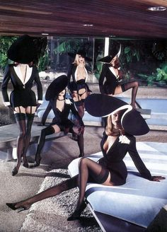 Helmut Newton - Fashion Photography: Thierry Mugler - Style & Structure 1980's - 1990's #millinery #judithm #hats