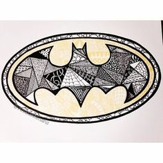 #fbf My old Batman Zentangle! #Zentangle #Zentangles #Doodle #Zendoodle…