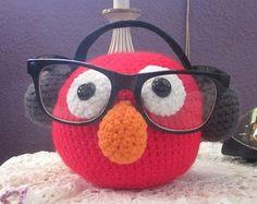Muppet Elmo Crochet Glasses Holder Free Pattern
