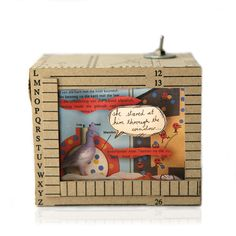Diorama: She Stared at him Through the Window Through The Window, Diorama, Decorative Boxes, Windows, Animals, Home Decor, Animales, Decoration Home, Animaux