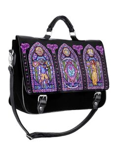 Stained Glass Satchel Too beautiful want so badly! Pastel Goth Fashion, Retro Fashion, Purple Shoes, Best Bags, Types Of Bag, Gothic Lolita, Purses And Bags, Satchel, Fashion Accessories