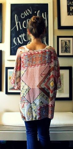 @stitchfix - sheer print kimono cardigan - loved this from my august fix!