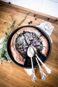 Blueberry and Lavender Sugared Clafoutis | Butter and Brioche