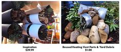 Bug homes made from HVAC parts